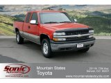 2001 Victory Red Chevrolet Silverado 1500 LS Extended Cab 4x4 #63242532