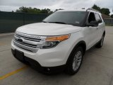 White Platinum Tri-Coat Ford Explorer in 2013