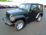 2012 Black Forest Green Pearl Jeep Wrangler Sport 4x4 #63243263