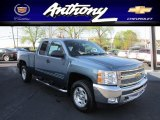 2012 Blue Granite Metallic Chevrolet Silverado 1500 LT Extended Cab 4x4 #63320251