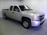 2010 Sheer Silver Metallic Chevrolet Silverado 1500 Extended Cab #63319882