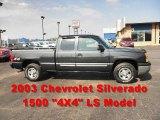 2003 Dark Gray Metallic Chevrolet Silverado 1500 LS Extended Cab 4x4 #63320181