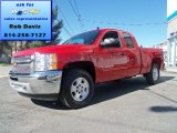 2012 Victory Red Chevrolet Silverado 1500 LT Extended Cab 4x4 #63319498