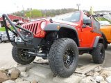 2011 Flame Red Jeep Wrangler Rubicon 4x4 #63319693