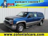 2003 Arrival Blue Metallic Chevrolet Silverado 1500 Z71 Extended Cab 4x4 #63384545