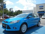 2012 Blue Candy Metallic Ford Focus Titanium Sedan #63383836