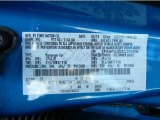2012 Focus Color Code for Blue Candy Metallic - Color Code: Z9