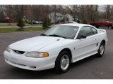 1995 Crystal White Ford Mustang V6 Coupe #63384512