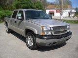 2005 Silver Birch Metallic Chevrolet Silverado 1500 Z71 Crew Cab 4x4 #63383695