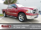 2009 Inferno Red Crystal Pearl Dodge Ram 1500 Lone Star Edition Crew Cab #63384394