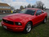 2007 Torch Red Ford Mustang V6 Deluxe Coupe #63384313