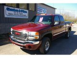 2003 Dark Toreador Red Metallic GMC Sierra 2500HD SLE Extended Cab 4x4 #63383982