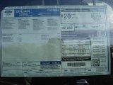 2013 Ford Explorer FWD Window Sticker