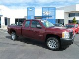 2009 Dark Cherry Red Metallic Chevrolet Silverado 1500 Extended Cab #63450603