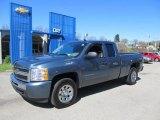 2011 Blue Granite Metallic Chevrolet Silverado 1500 LS Extended Cab 4x4 #63450532