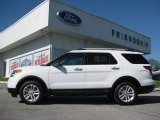 2013 Oxford White Ford Explorer XLT 4WD #63450506