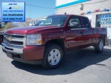 2009 Deep Ruby Red Metallic Chevrolet Silverado 1500 LT Extended Cab 4x4 #63450470