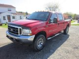 2004 Red Ford F250 Super Duty XLT Crew Cab 4x4 #63450651