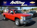 2012 Victory Red Chevrolet Silverado 1500 LT Extended Cab 4x4 #63516700