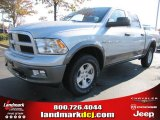 2012 Bright Silver Metallic Dodge Ram 1500 Outdoorsman Crew Cab 4x4 #63516476