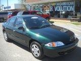 2002 Forest Green Metallic Chevrolet Cavalier LS Sedan #63549085