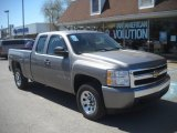 2007 Graystone Metallic Chevrolet Silverado 1500 Work Truck Extended Cab 4x4 #63549081