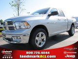 2012 Bright Silver Metallic Dodge Ram 1500 Big Horn Quad Cab #63554710