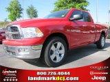 2012 Flame Red Dodge Ram 1500 Big Horn Quad Cab #63554706