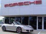 2012 Platinum Silver Metallic Porsche 911 Carrera S Cabriolet #63555136