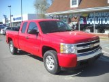 2008 Victory Red Chevrolet Silverado 1500 LT Extended Cab 4x4 #63554805