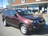 2011 Dark Cherry Kia Sorento LX AWD #63554800