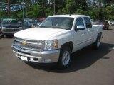 2012 White Diamond Tricoat Chevrolet Silverado 1500 LT Crew Cab 4x4 #63554968