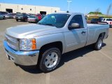 2012 Silver Ice Metallic Chevrolet Silverado 1500 LT Regular Cab 4x4 #63554946