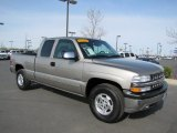2002 Light Pewter Metallic Chevrolet Silverado 1500 LS Extended Cab 4x4 #63596077