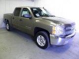 2012 Mocha Steel Metallic Chevrolet Silverado 1500 LT Crew Cab #63596041