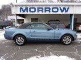 2005 Windveil Blue Metallic Ford Mustang V6 Deluxe Convertible #63595639