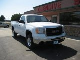 2007 Summit White GMC Sierra 2500HD SLE Regular Cab 4x4 #63596357