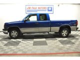2003 Arrival Blue Metallic Chevrolet Silverado 1500 LS Extended Cab 4x4 #63596347