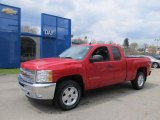 2012 Victory Red Chevrolet Silverado 1500 LT Extended Cab 4x4 #63595593