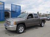 2012 Mocha Steel Metallic Chevrolet Silverado 1500 LT Crew Cab 4x4 #63595591
