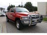 Flame Red Dodge Ram 2500 in 2001