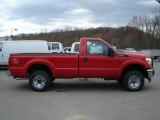 2012 Vermillion Red Ford F250 Super Duty XL Regular Cab 4x4 #63595511