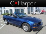 2007 Vista Blue Metallic Ford Mustang V6 Deluxe Convertible #63595415