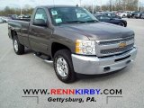 2012 Mocha Steel Metallic Chevrolet Silverado 1500 LT Regular Cab 4x4 #63671512