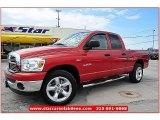 2008 Sunburst Orange Pearl Dodge Ram 1500 Lone Star Edition Quad Cab #63671495