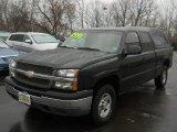 2003 Dark Green Metallic Chevrolet Silverado 1500 LS Extended Cab 4x4 #63671719