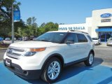 2013 White Platinum Tri-Coat Ford Explorer XLT #63723386