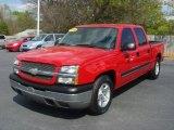 2005 Victory Red Chevrolet Silverado 1500 LS Crew Cab #63724004