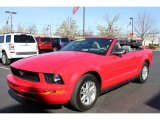 2007 Torch Red Ford Mustang V6 Premium Convertible #63723975