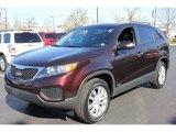 2011 Dark Cherry Kia Sorento LX V6 AWD #63723972